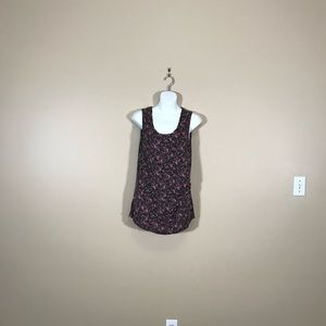 Maurice's Black Floral Tank Top